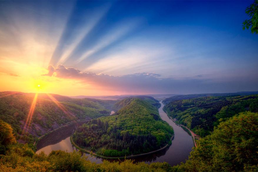 Saarburg: de magische Saarschleife