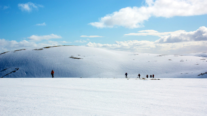 Skitouren met indrukwekkende panorama's. © Nick Bramhall via Flickr Creative Commons