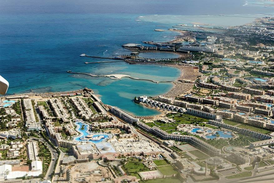 Hurghada vanuit de lucht.