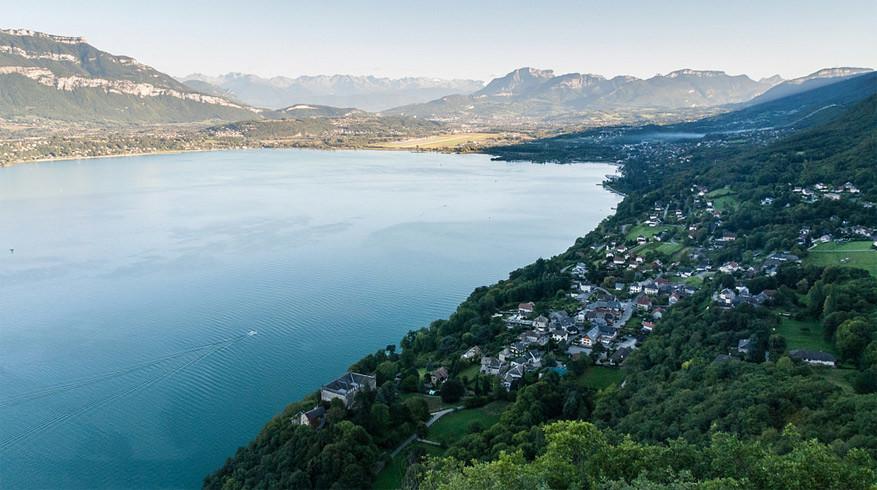 Uitzicht op het meer van Bourget. © Alain Rueff via Flickr Creative Commons
