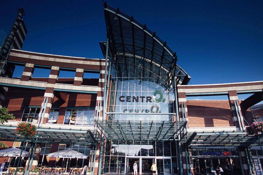 Het ultramoderne shoppingcentrum CentrO in Duisburg. © Toerisme Duisburg