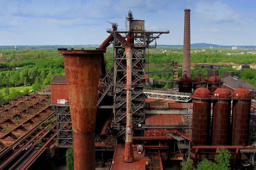Industriële architectuur in het Landschafspark van Duisburg. © Pixabay