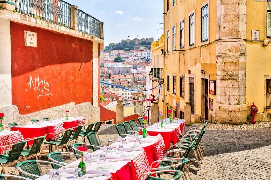 Lissabon: gezellige terrassen in de wijk Chiado