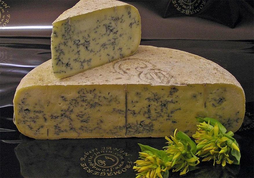 De smakelijke kaas Blue de Gex