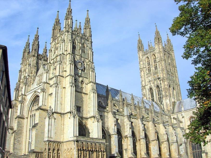 Indrukwekkend om te zien, de kathedraal van Canterbury! © Miet Waes