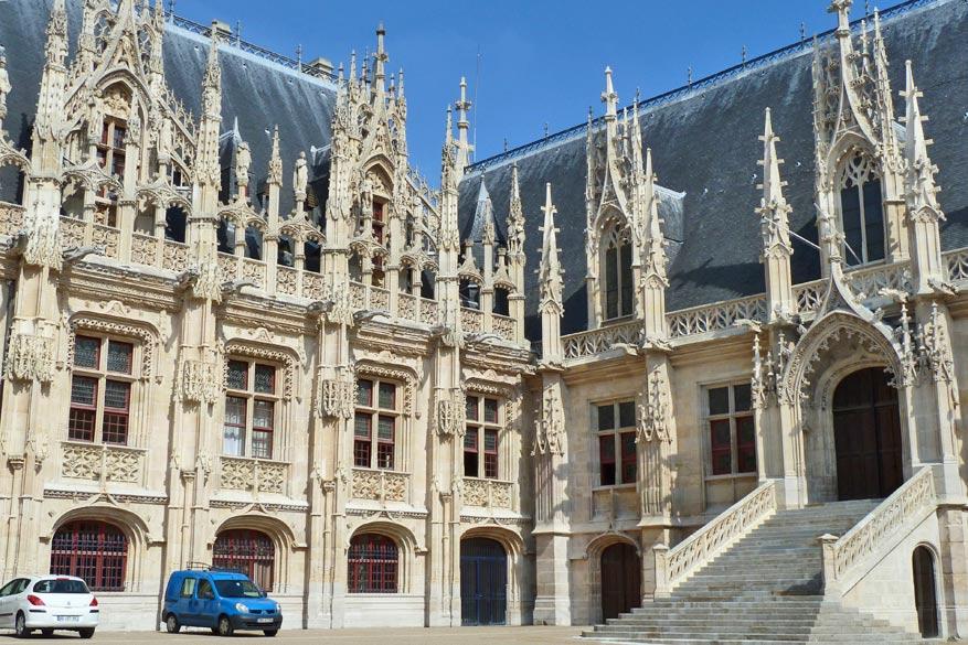 Een prachtig staaltje gotiek in Rouen.