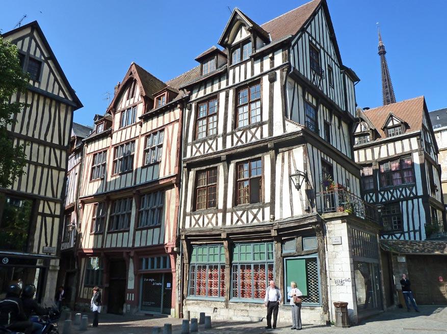 De vakwerkenhuizen maken van Rouen een museum op zich.