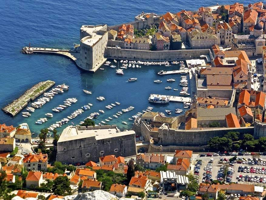 Het haventje van Dubrovnik