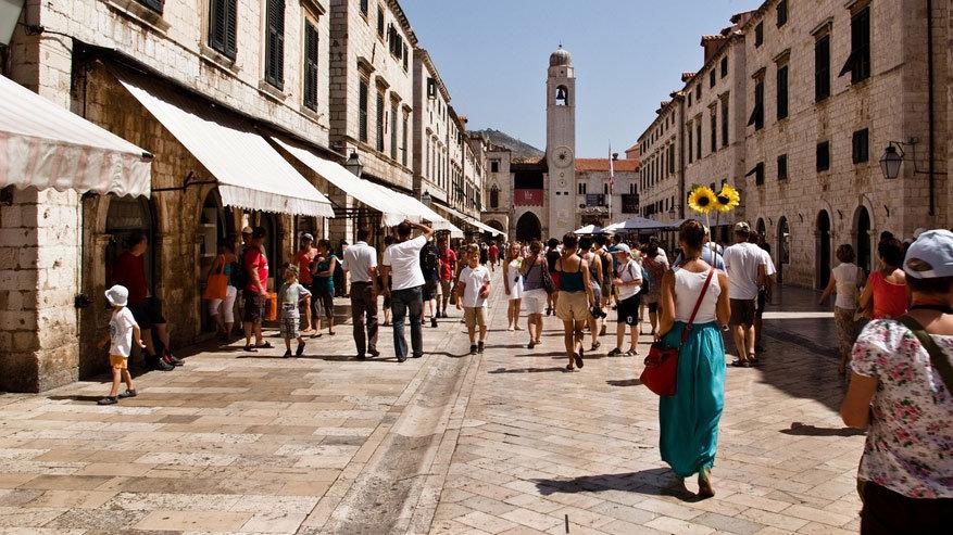 De hoofdstraat Stradun