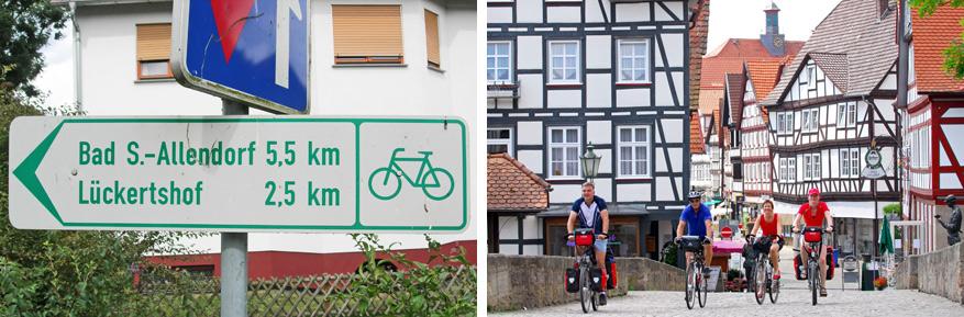 De sprookjesroute leg je ook makkelijk af met de fiets! © Frans Oyen | © Kassel Tourist GmbH