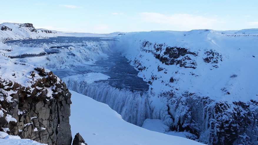 De waterval van Gullfoss. © Pixabay