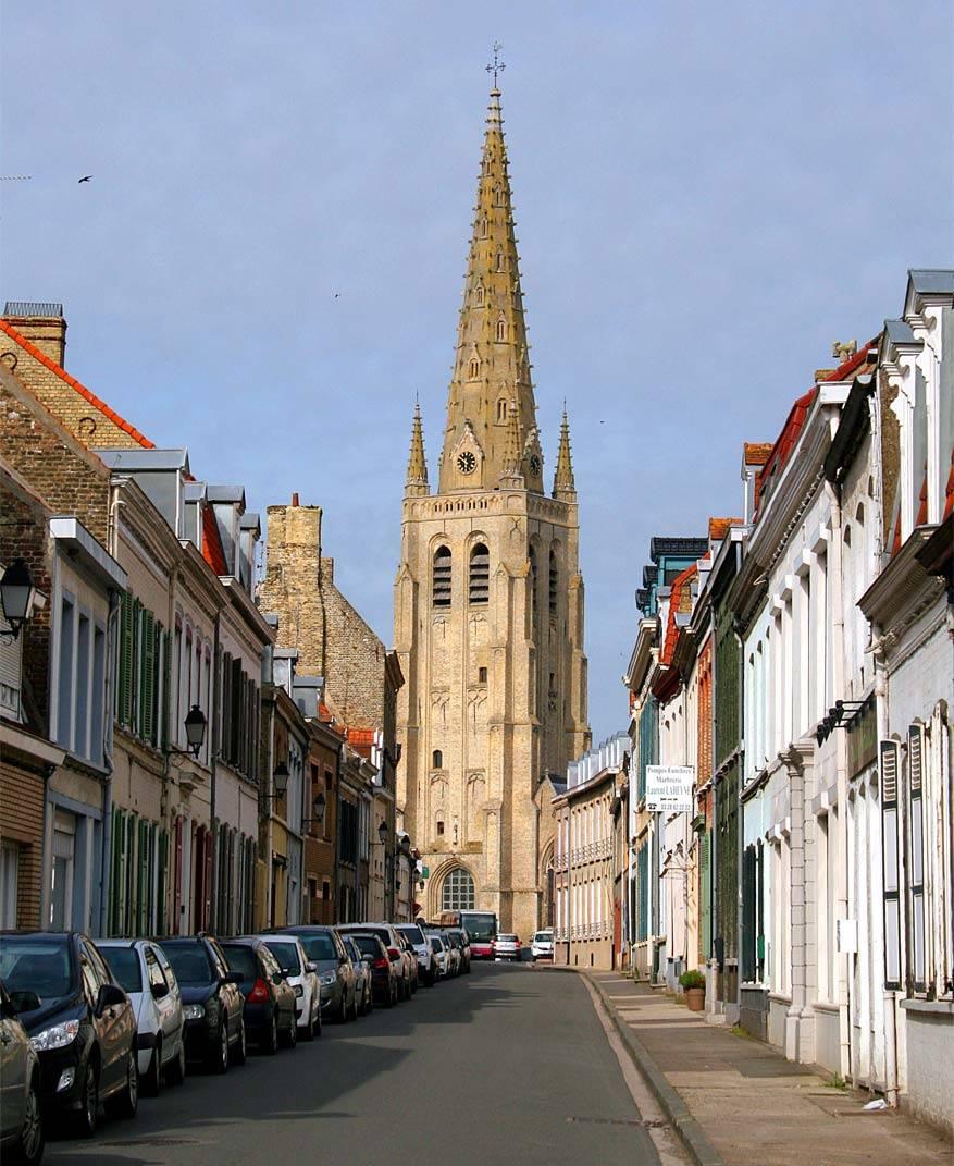 De Sint-Vaastkerk van Hondschoote. © Commons Wikimedia