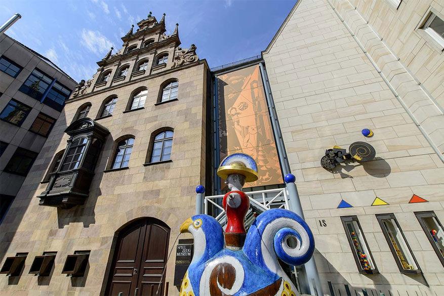 Laat het kind in je los tijdens een bezoek aan het Speelgoedmuseum! © Congress & Tourismus Zentrale Nürnberg (Niklas, Uwe)