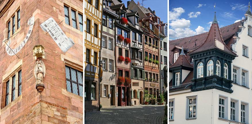 Wandel je in de stad rond? Geef je ogen de kost, de architectuur in Nürnberg is erg indrukwekkend!