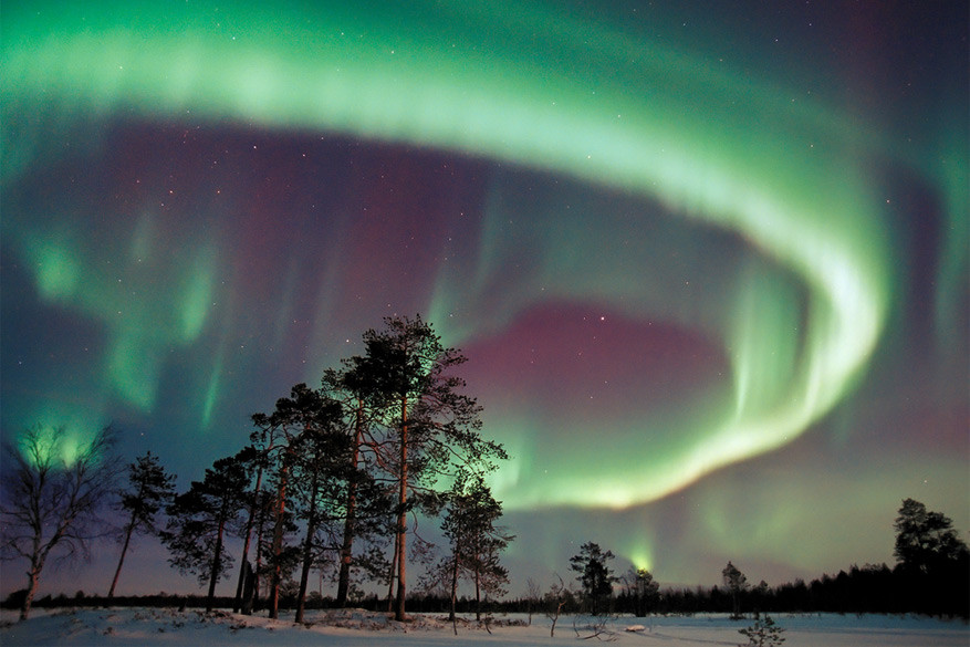 Het impressionante noorderlicht. © Visit Finland