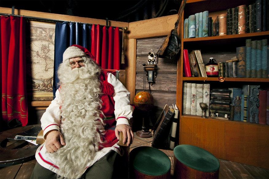 De Kerstman in zijn kantoor in Rovaniemi © Visit Finland