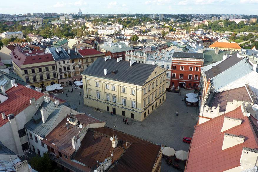 Het centrale plein in Lublin gezien vanuit de Trinitariërstoren. © Bruno Loockx