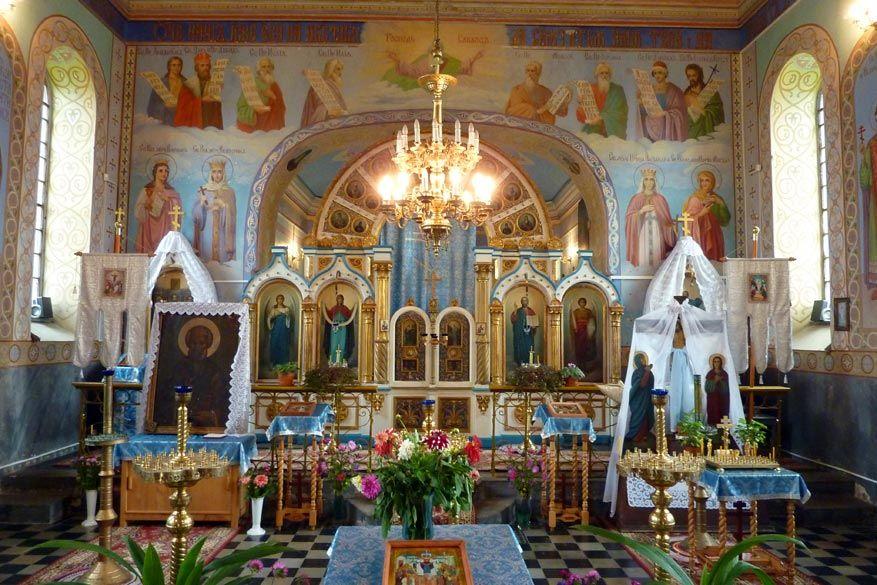 De fresco's in de orthodoxe kerk in Liszna zijn indrukwekkend. © Bruno Loockx