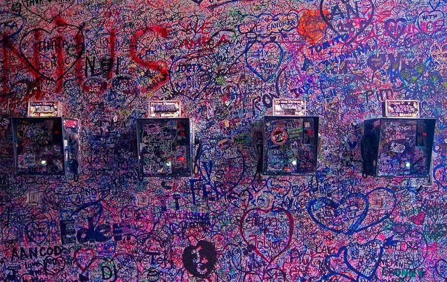 Verona: liefdesbetuigingen in de vorm van graffiti. © Miguel Dias