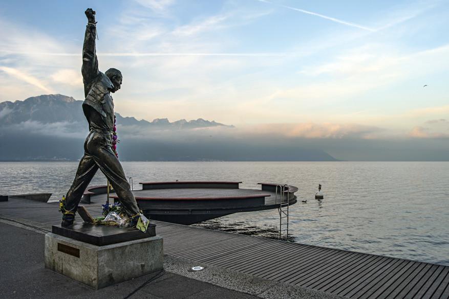Het standbeeld van Freddy Mercury. © Toerisme Zwitserland