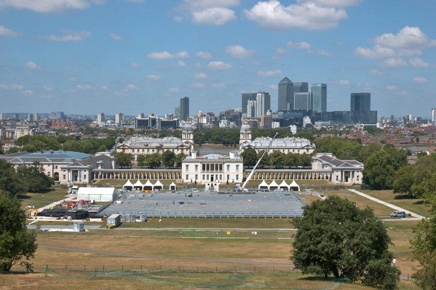 Greenwich bestaat uit veel groene ruimtes om tot rust te komen.