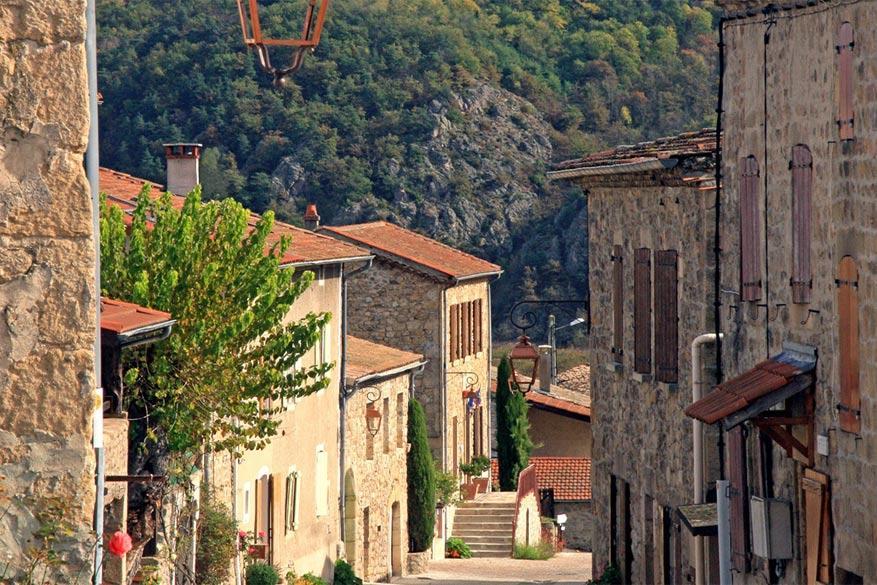 Het centrum van Boucieu-le-Roi. © Info Ardèche