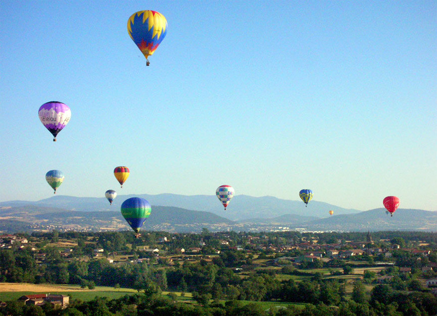 Balonvaren boven de Ardèche. © Annonay