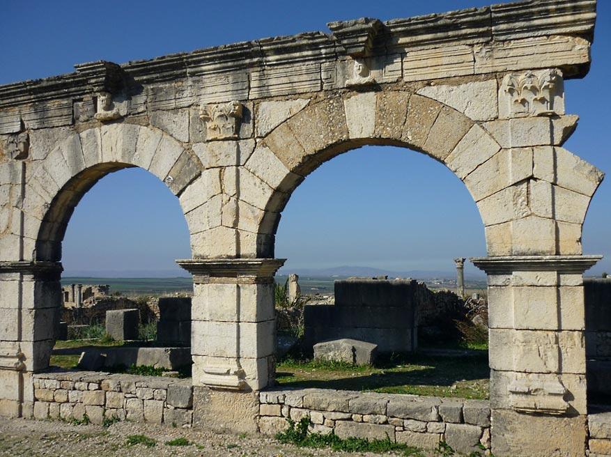 Het Aquaduct van Volubilis.