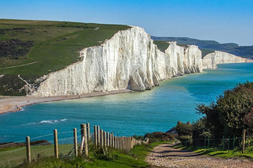 De Seven Sisters: witte krijtrotsen en een icoon in het Zuidoosten van Engeland