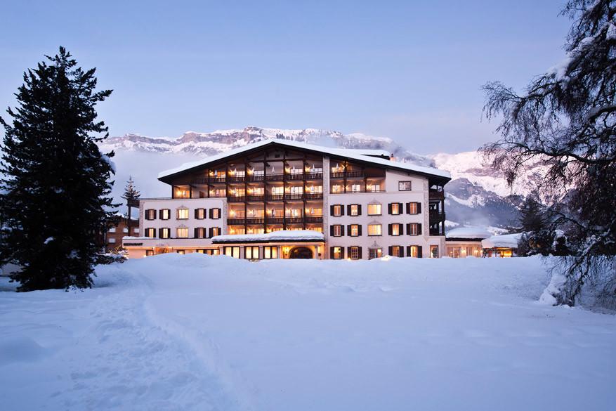 Hotel Advla in Laax, ook een overnachtingsmogelijkheid naast de vele appartementen. © Hotel Advla