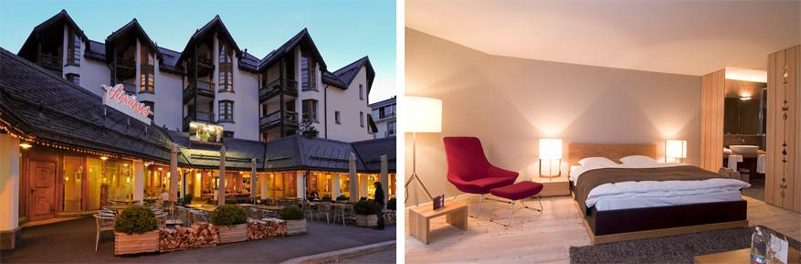 Schweizerhof zet in op comfortabele kamers en een uitgebreid ontbijt. © Dolores Rupa