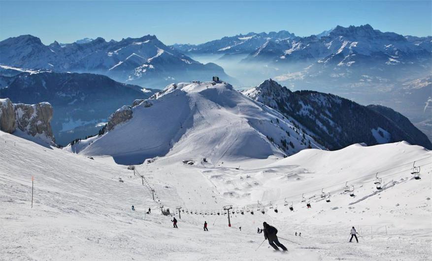 Aan wintersport geen gebrek in het Zwitserse Leysin!