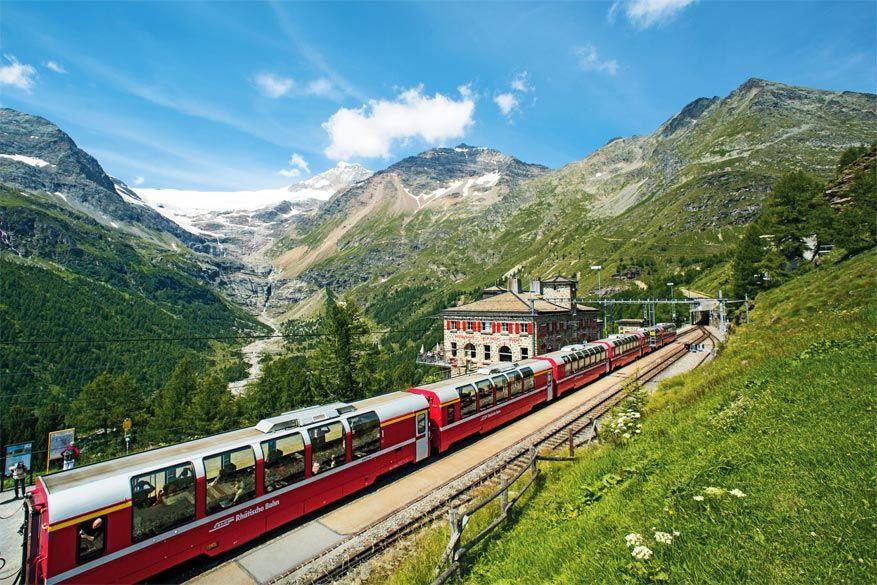 De bekende Glacier Express