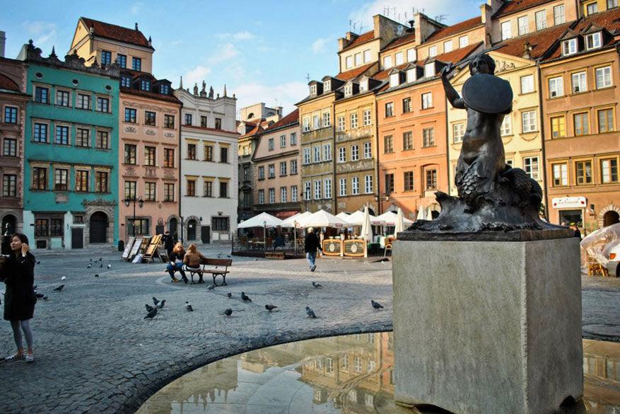 De markt van Warschau.