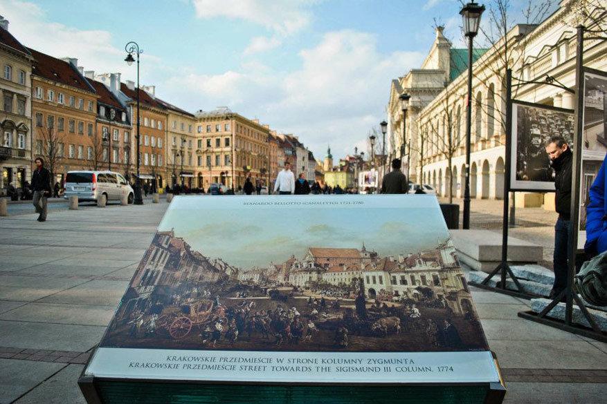 Warschau werd heropgebouwd na de bombardementen op basis van schilderijen uit de 18e eeuw.