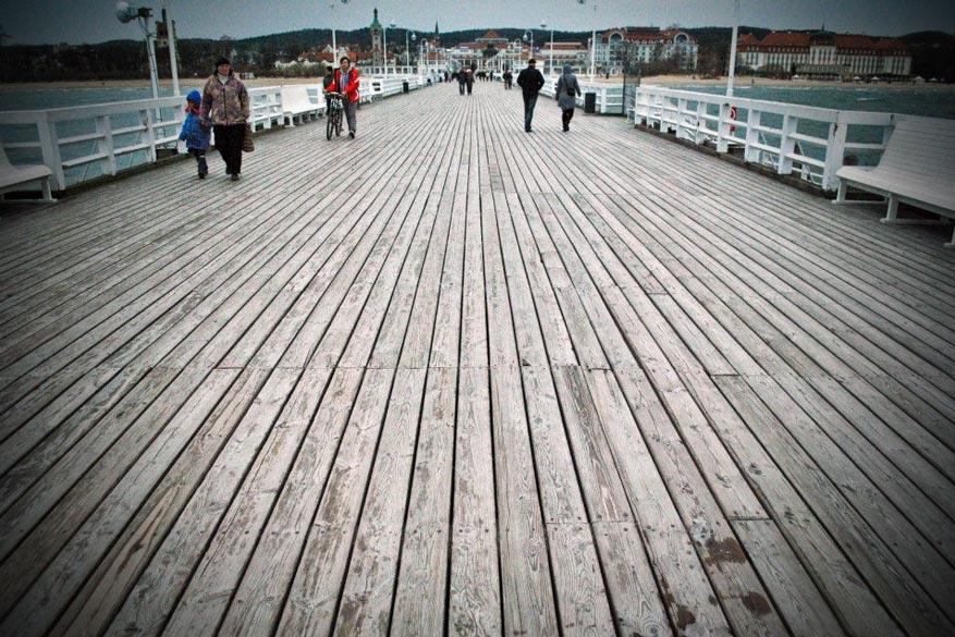 Ontspannen gebeurt in Sopot, aan de langste pier van Europa. © Karel De Rudder
