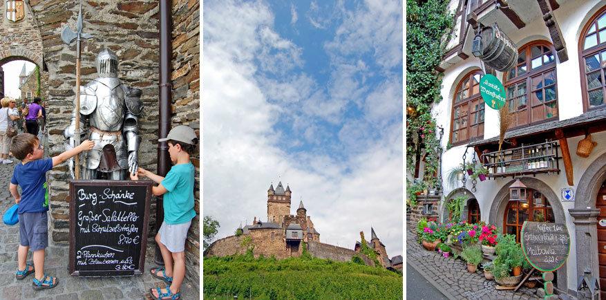 In de binnenstad van Cochem met rechts de Weinstube.