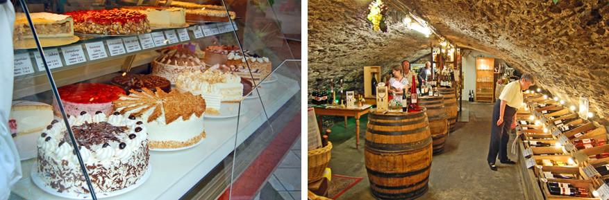 Proef van de lekkernijen die Cochem te bieden heeft. Vooral de taarten vallen in de smaak!