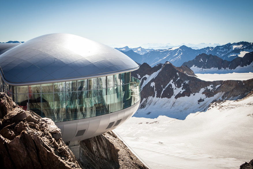 Café 3.440 en de Wildspitze © Toerisme Pitztal