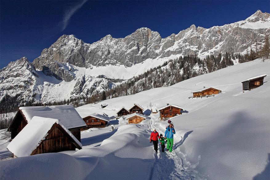 In Ramsau am Dachstein is het aangenaam wandelen en langlaufen.