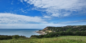 Nordic walking langs de Engelse kust