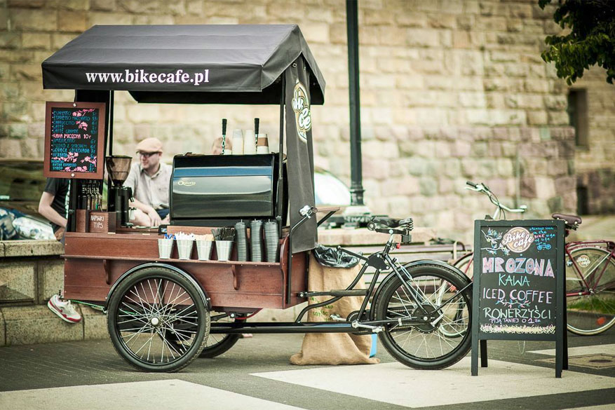 Haal je coffee-on-the-go bij het mobiele Bike Café! © Project-On