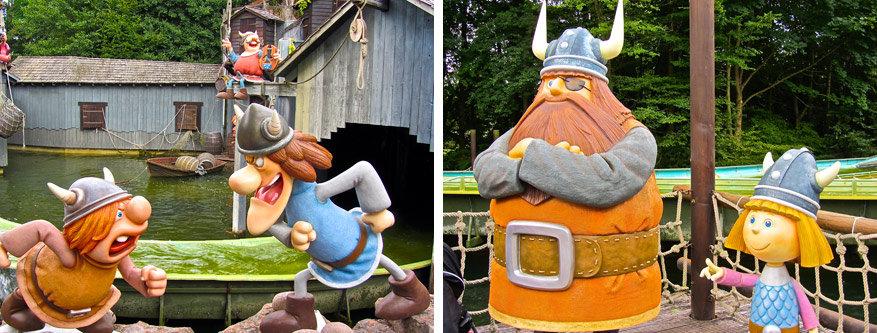 Bekende gezichten zoals Wickie de Viking passeren de revue.