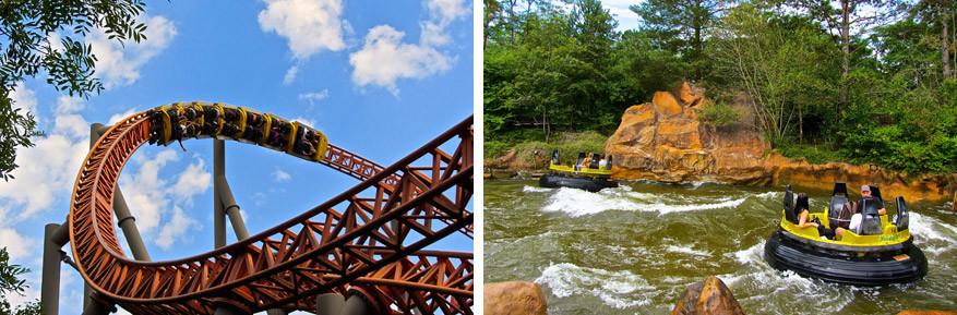 Spannende attracties houden je adrenalinegehalte op peil!