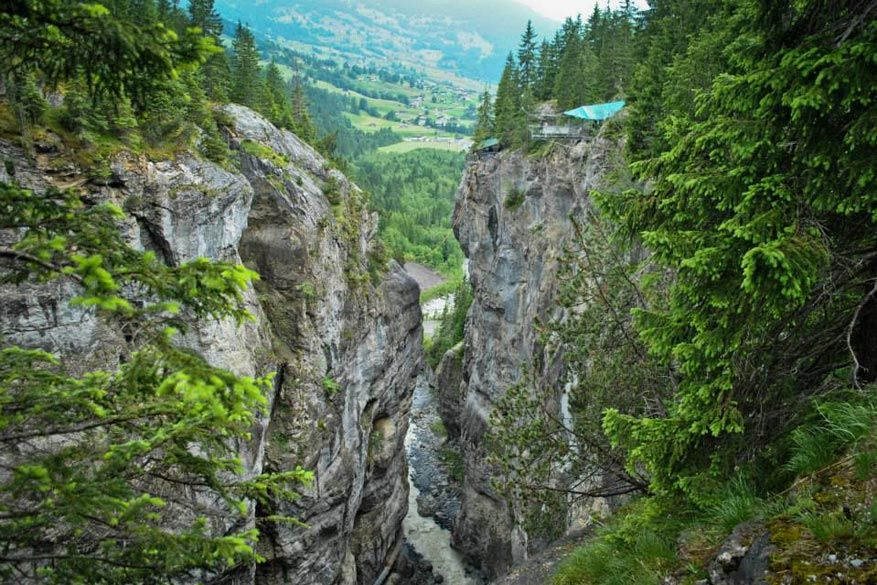 Gletcher Schlucht: een plek waar je kan bungee jumpen!