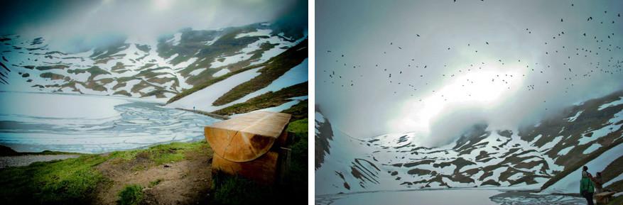 De gletsjers tegen de flanken van de Eiger leveren ondanks het wisselvallige weer magische plaatjes op!