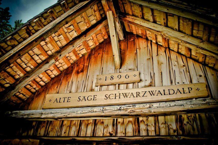 Bij de zagerij van de Schwarzwaldalp.