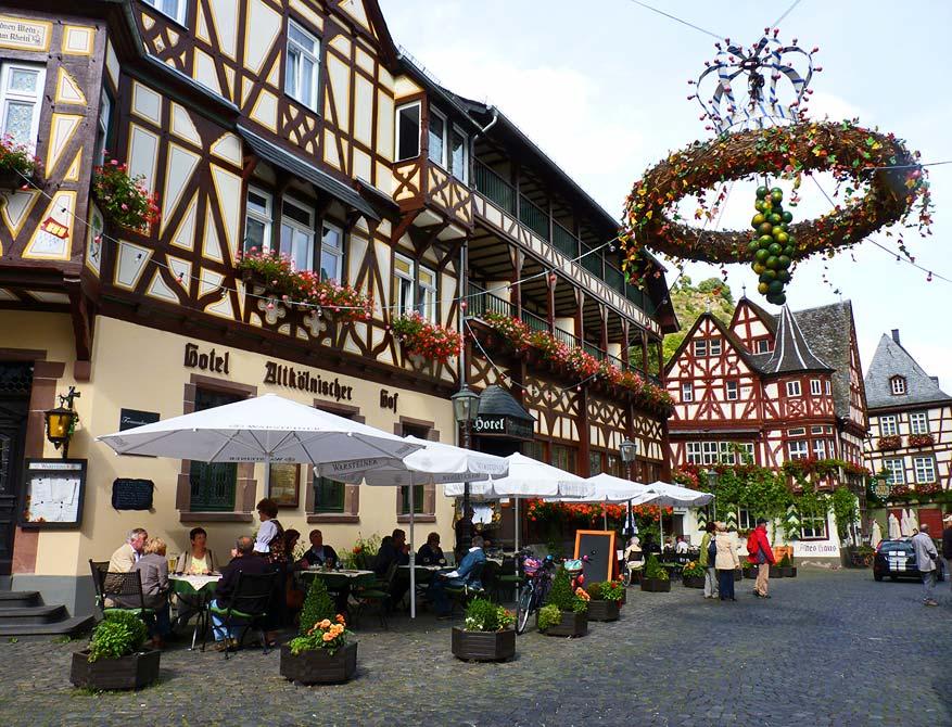 Zelfs in de binnenstadjes leeft de Duitse wijn!