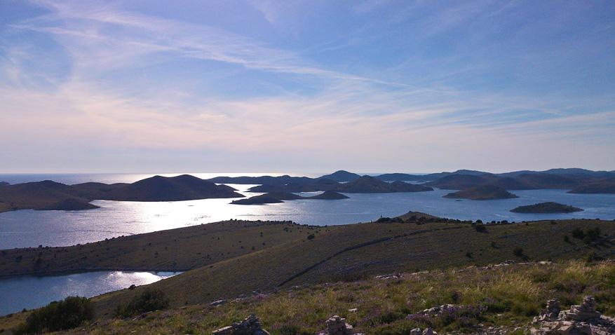 Kornati bestaat uit verschillende kleine eilanden.