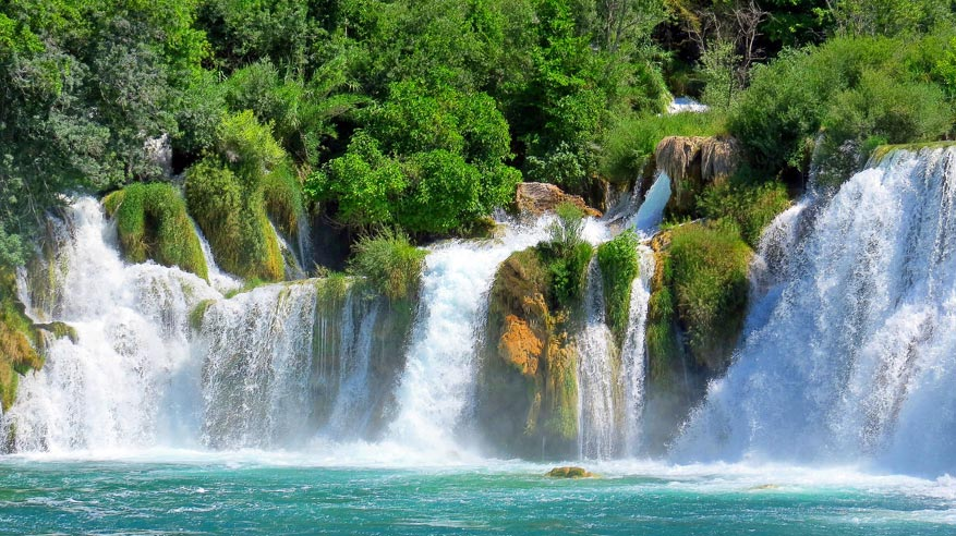 Betoverende watervallen in Nationaal Park Krka.